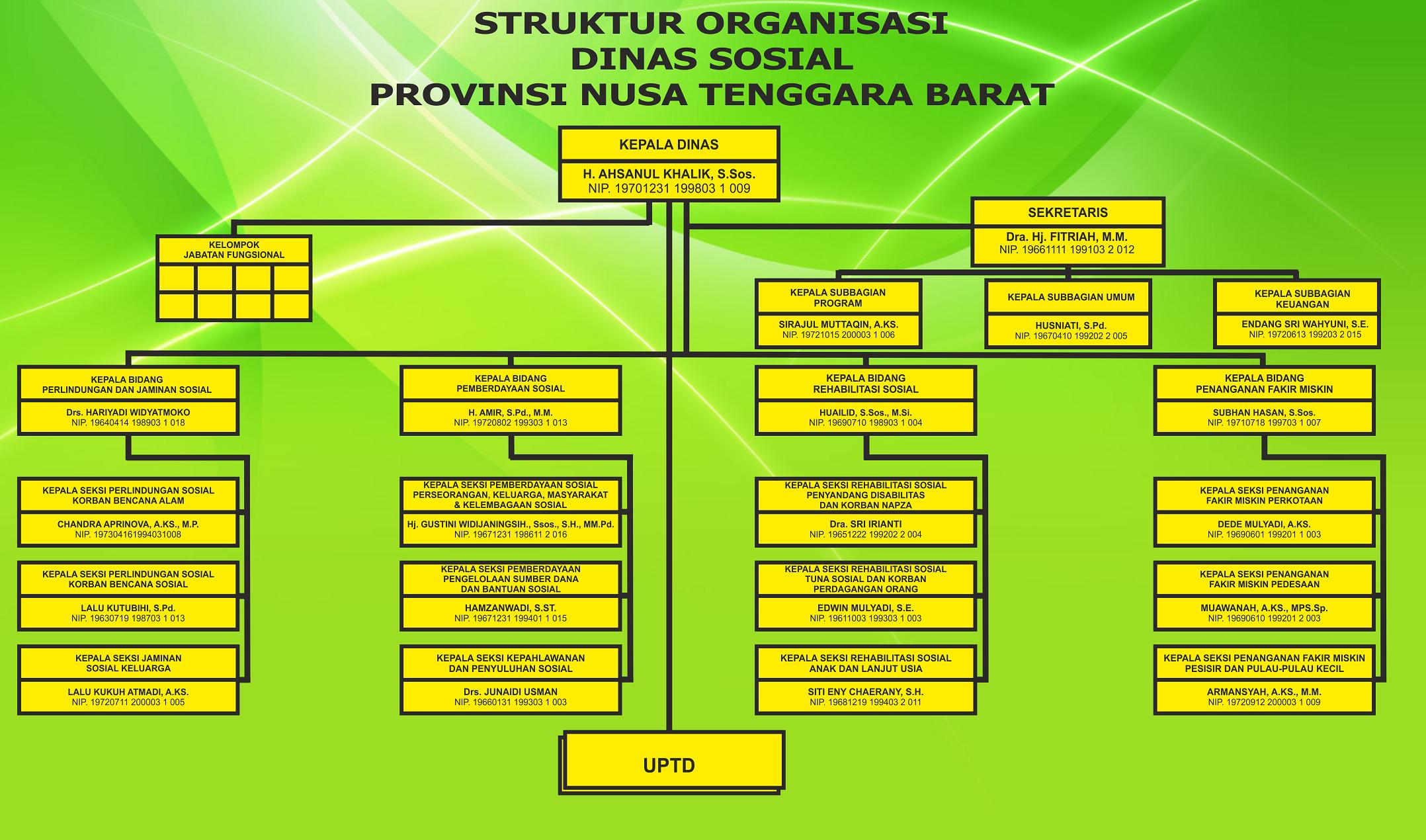 Struktur Organisasi - DINAS SOSIAL PROVINSI NTB