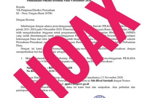 Hoaks Surat Permintaan Dana Kembali Beredar, Pemprov Berencana Laporkan ke APH